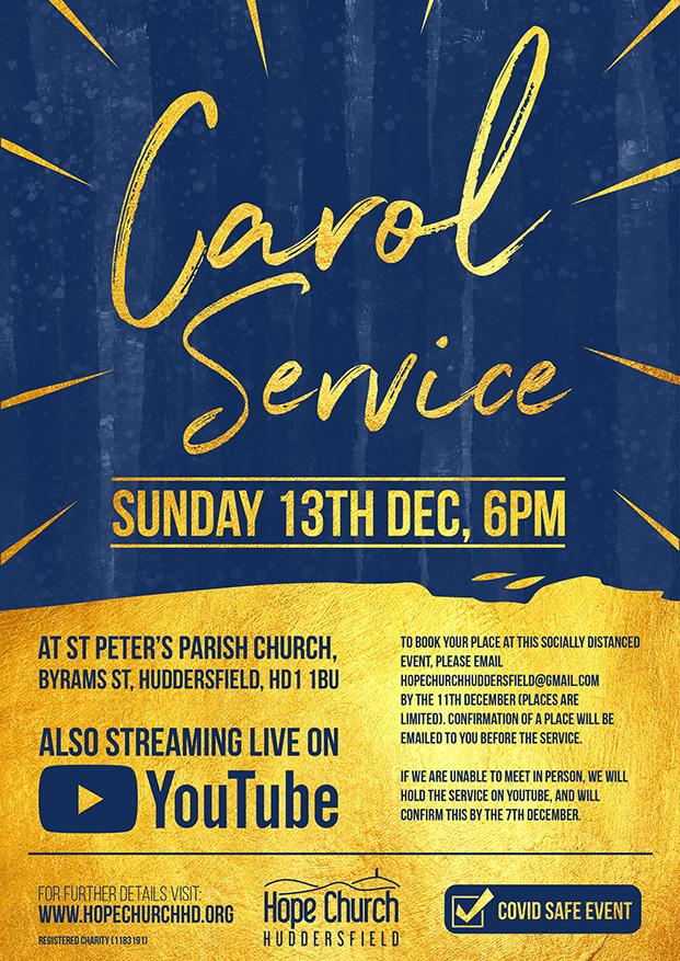 Hope Church Huddersfield Carol Service 2020